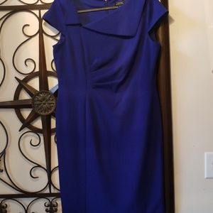 Tahari Royal Blue Dress NWOT
